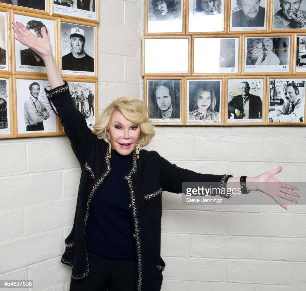 Joan Rivers backstage at Wells Fargo Center For The Arts on December 14 2012 in Santa Rosa California