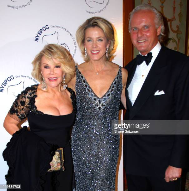 Joan Rivers Deborah Norville and Karl Wellner during The New York Society for the Prevention of Cruelty to Children 2006 Gala at Pierre Hotel in New...