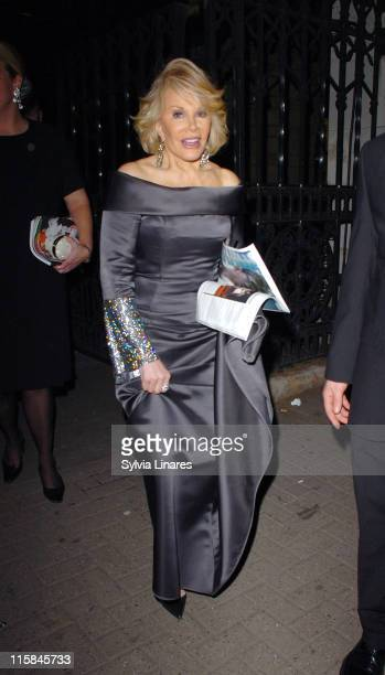 Joan Rivers during 2007 British Academy Television Awards Reception and Party Departures at Natural History Museum in London Great Britain