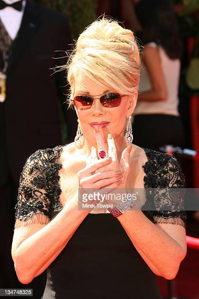Joan Rivers during 58th Annual Primetime Emmy Awards Arrivals at Shrine Auditorium in Los Angeles California United States