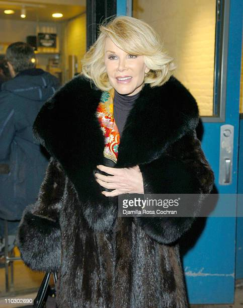 Joan Rivers during 'A Spanish Play' Opening Night in New York City Arrivals at OffBroadway's Classic Stage Company in New York City New York United...