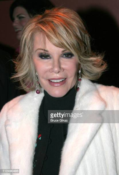 Joan Rivers during 'All Shook Up' Opening Night on Broadway After Party at The Copacabana in New York City New York United States