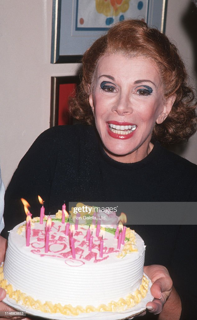 Joan Rivers during Birthday Party for Joan Rivers 'Sally Marr and Her Escorts' Cast Party June 8 1994 at Helen Hayes Theater in New York City New...