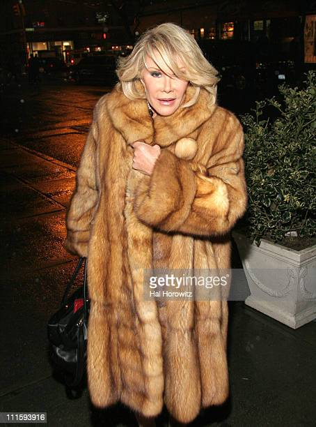 Joan Rivers during Joan Rivers and Kathy Griffin Dine at David Burke Donatella in New York City at David Burke Donatella in New York City New York...