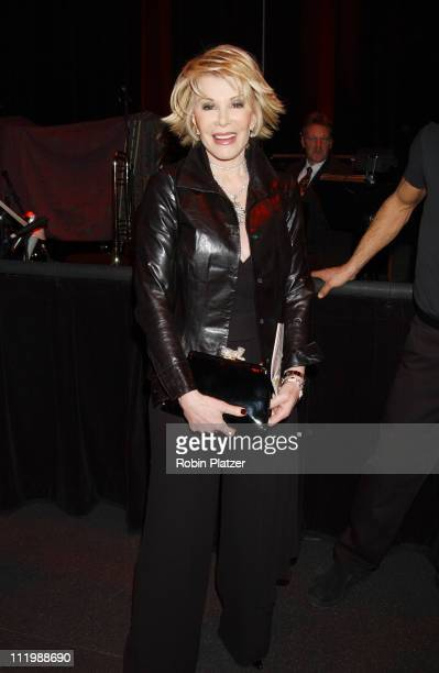 Joan Rivers during Opening night of Tommy Tune White Ties And Tails at Little Shubert Theater in New York NY United States