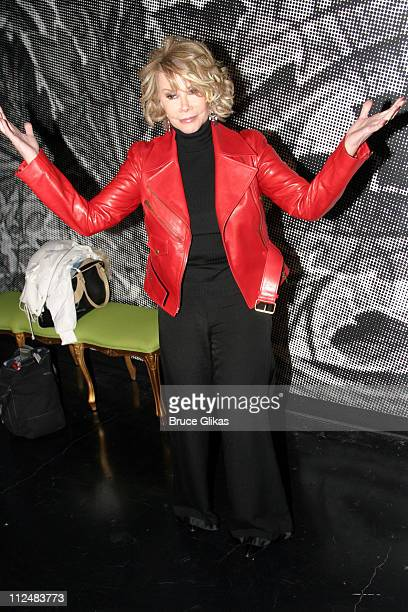 Joan Rivers during Opening Night Party for the OffBroadway Musical 'Altar Boyz' at Dodger Stages then Crobar in New York City New York United States