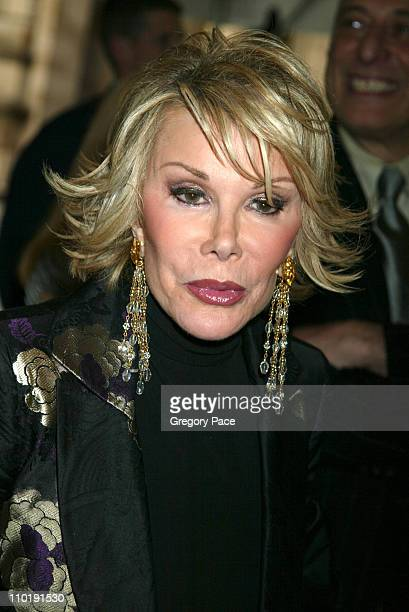 Joan Rivers during 'Sirio Maccioni The Story of My Life' and 'Le Cirque' Book Party at Le Cirque 2000 in New York City New York United States