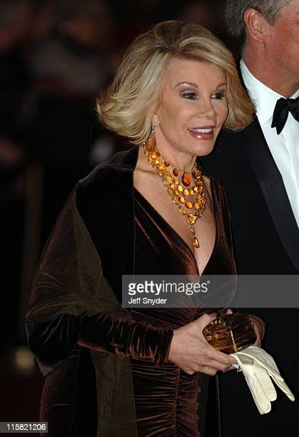 Joan Rivers during The 28th Annual Kennedy Center Honors Arrivals at The Kennedy Center for the Perfoming Arts in Washington DC United States