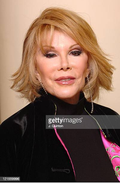 Joan Rivers during The Lighthouse Gala Auction Arrivals at Christie's in London Great Britain