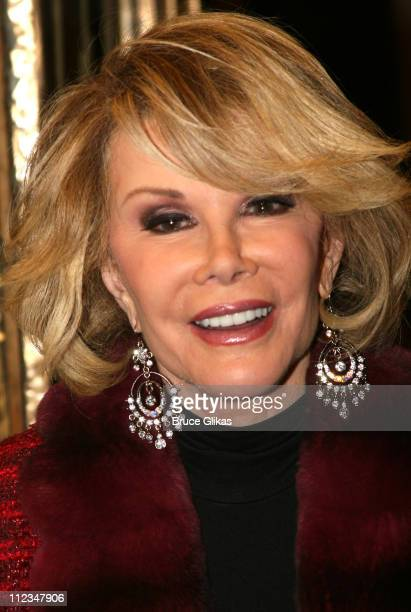 Joan Rivers during 'The Vertical Hour' New York Premiere November 30 2006 at The Music Box Theatre in New York City New York United States