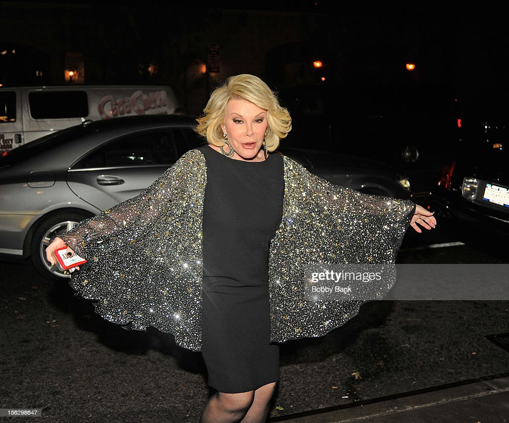 <a gi-track='captionPersonalityLinkClicked' href=/galleries/search?phrase=Joan+Rivers&family=editorial&specificpeople=159403 ng-click='$event.stopPropagation()'>Joan Rivers</a> filming on location for 'Celebrity Apprentice All Stars' on November 12, 2012 in New York City.