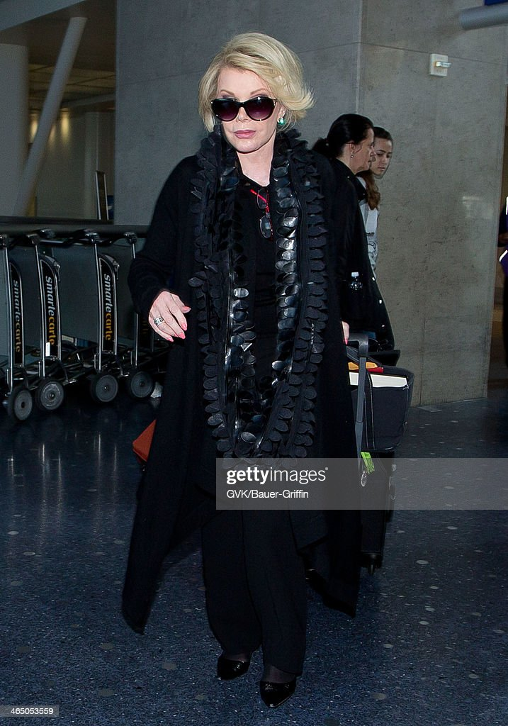 <a gi-track='captionPersonalityLinkClicked' href=/galleries/search?phrase=Joan+Rivers&family=editorial&specificpeople=159403 ng-click='$event.stopPropagation()'>Joan Rivers</a> is seen at LAX airport on January 25, 2014 in Los Angeles, California.