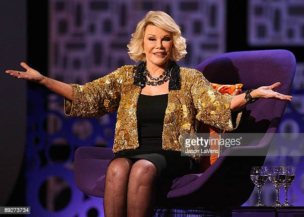 Joan Rivers onstage during Comedy Central's 'Roast of Joan Rivers' at CBS Studios on July 26 2009 in Studio City California