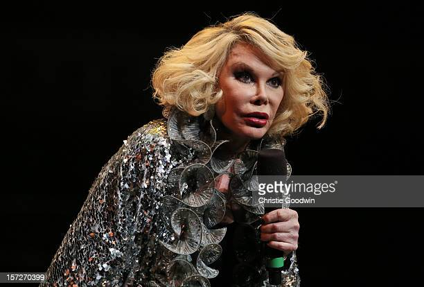 Joan Rivers performs on stage as part of the The Prince's Trust comedy gala We Are Most Amused at Royal Albert Hall on November 28 2012 in London...