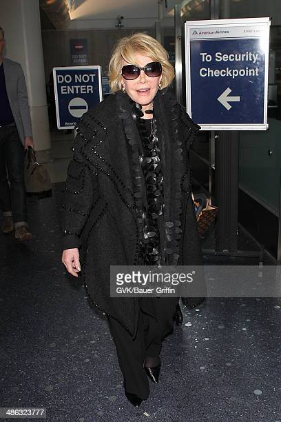 Joan Rivers seen at Los Angeles International on April 23 2014 in Los Angeles California