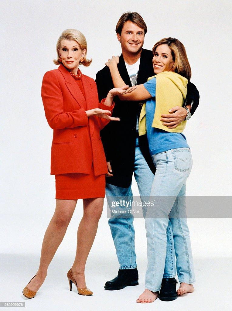 Joan Rivers with daughter Melissa and Melissa's husband John Endicott.