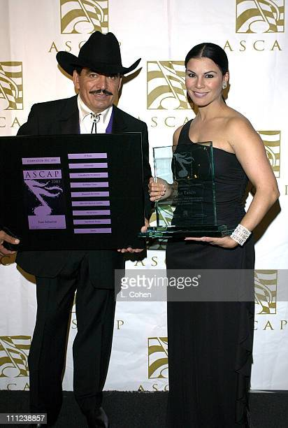 Joan Sebastian and Olga Tanon during The 11th Annual 'El Primio ASCAP' Awards at Beverly Hilton Hotel in Beverly Hills California United States