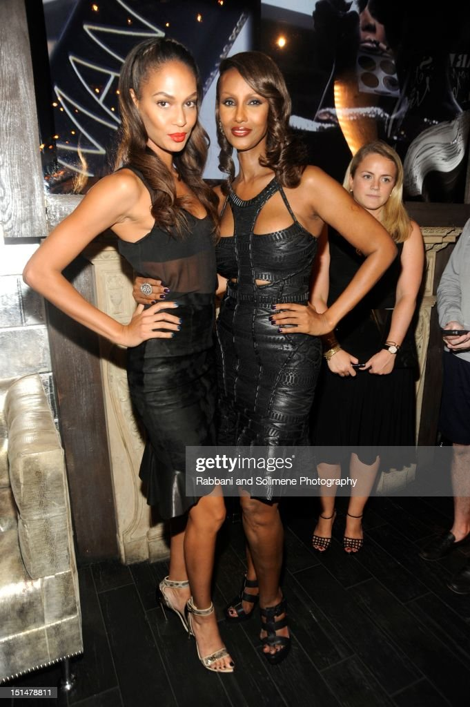 Joan Smalls and Iman attends the Destination Iman Website Launch Party at Dream Downtown on September 7, 2012 in New York City.