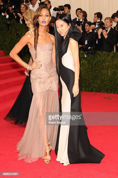 Joan Smalls and Vera Wang attend the 'Charles James Beyond Fashion' Costume Institute Gala at the Metropolitan Museum of Art on May 5 2014 in New...