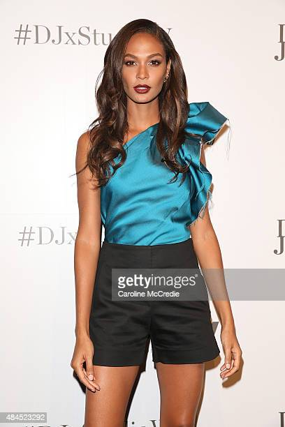 Joan Smalls arrives ahead of the StudioW launch at David Jones Elizabeth Street Store on August 20 2015 in Sydney Australia