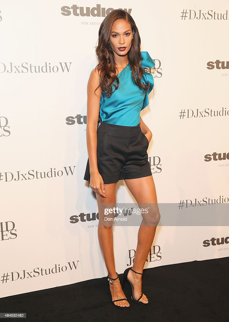 <a gi-track='captionPersonalityLinkClicked' href=/galleries/search?phrase=Joan+Smalls&family=editorial&specificpeople=5714628 ng-click='$event.stopPropagation()'>Joan Smalls</a> arrives ahead of the Studio.W launch at David Jones Elizabeth Street Store on August 20, 2015 in Sydney, Australia.