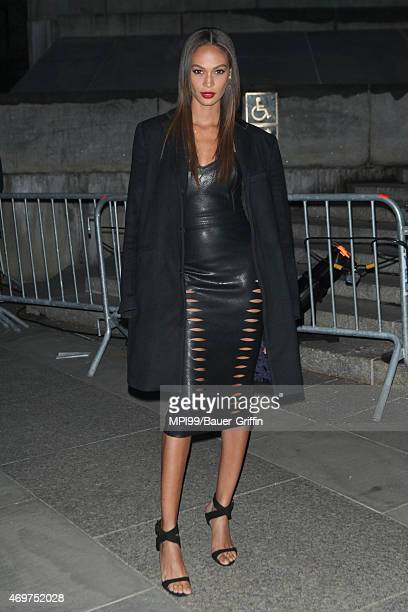 Joan Smalls arrives at the 2015 Tribeca Film Festival Vanity Fair Party at the State Supreme Courthouse on April 14 2015 in New York City