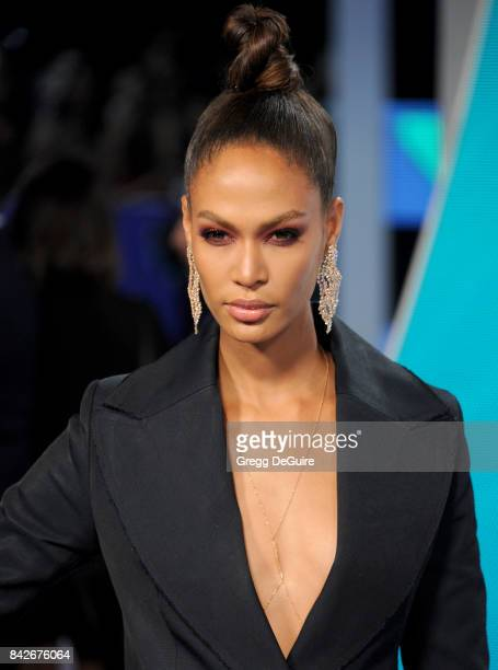 Joan Smalls arrives at the 2017 MTV Video Music Awards at The Forum on August 27 2017 in Inglewood California