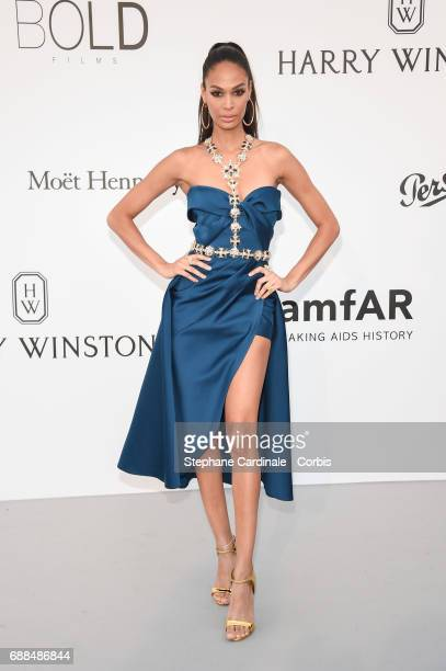 Joan Smalls arrives at the amfAR Gala Cannes 2017 at Hotel du CapEdenRoc on May 25 2017 in Cap d'Antibes France