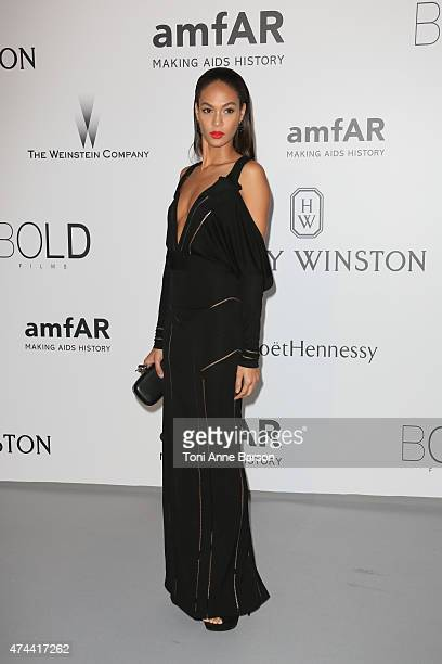 Joan Smalls attends amfAR's 22nd Cinema Against AIDS Gala Presented By Bold Films And Harry Winston at Hotel du CapEdenRoc on May 21 2015 in Cap...