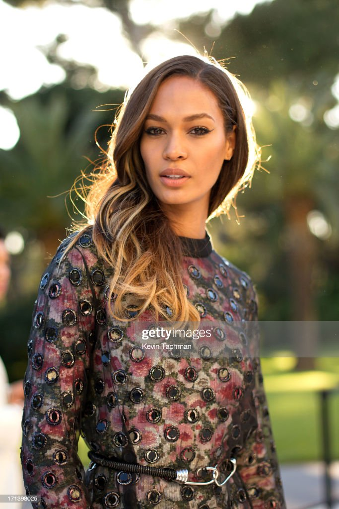 Joan Smalls attends at the cocktail party for amfAR's 20th Annual Cinema Against AIDS at Hotel du Cap-Eden-Roc on May 23,2013 in Cap d'Antibes, France.