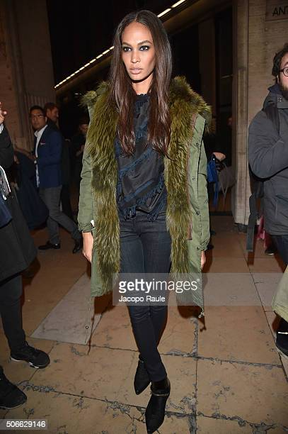 Joan Smalls attends at the Versace fashion show as part of Paris Fashion Week Haute Couture Spring/Summer 2016 on January 24 2016 in Paris France