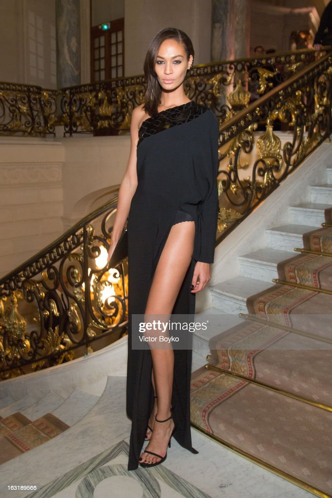 Joan Smalls attends 'CR Fashion Book Issue 2' - Carine Roitfeld Cocktail as part of Paris Fashion Week at Hotel Shangri-La on March 5, 2013 in Paris, France.