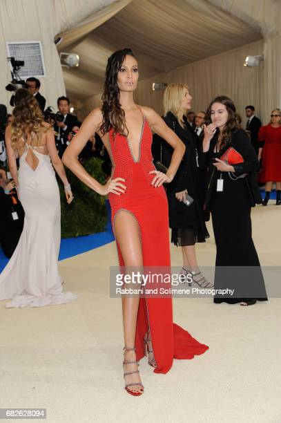 Joan Smalls attends 'Rei Kawakubo/Comme des Garcons Art Of The InBetween' Costume Institute Gala Arrivals at Metropolitan Museum of Art on May 1 2017...