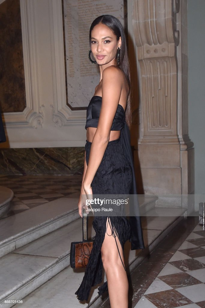 Joan Smalls attends the 20 Years Of MariaCarla Party as part of the Paris Fashion Week Womenswear Spring/Summer 2018 on September 29, 2017 in Paris, France.