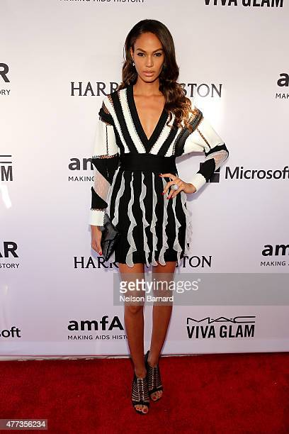 Joan Smalls attends the 2015 amfAR Inspiration Gala New York at Spring Studios on June 16 2015 in New York City