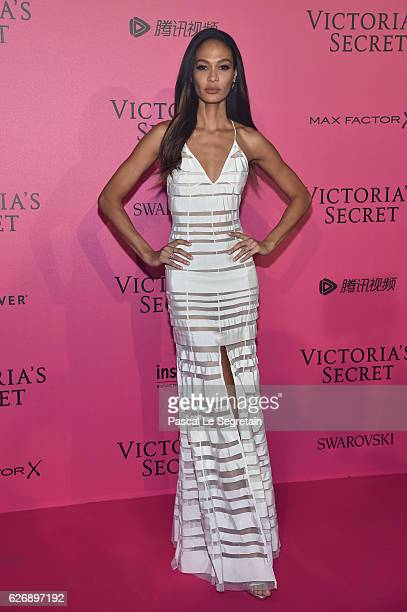 Joan Smalls attends the 2016 Victoria's Secret Fashion Show after party on November 30 2016 in Paris France