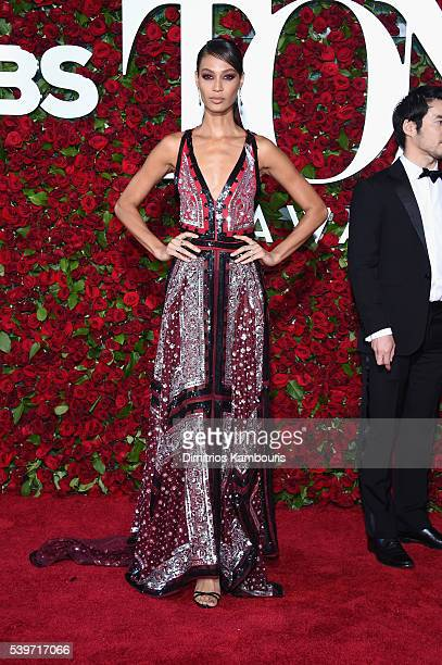 Joan Smalls attends the 70th Annual Tony Awards at The Beacon Theatre on June 12 2016 in New York City
