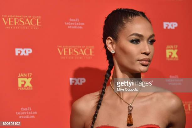 Joan Smalls attends 'The Assassination Of Gianni Versace American Crime Story' New York Screening at Metrograph on December 11 2017 in New York City