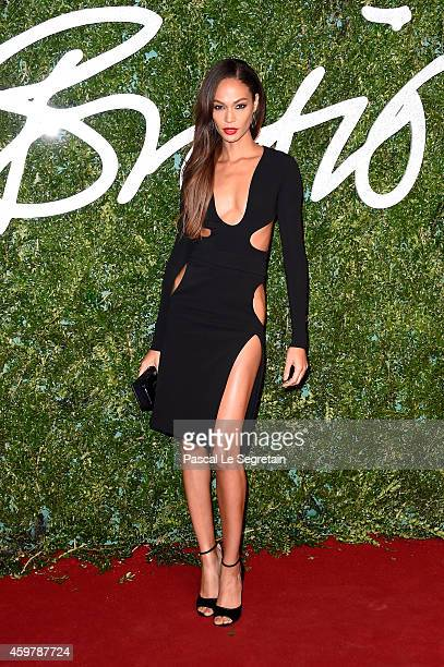 Joan Smalls attends the British Fashion Awards at London Coliseum on December 1 2014 in London England