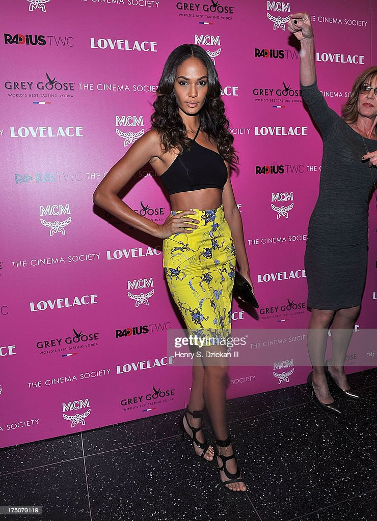 Joan Smalls attends The Cinema Society and MCM with Grey Goose screening of Radius TWC's 'Lovelace' at Museum of Modern Art on July 30, 2013 in New York City.