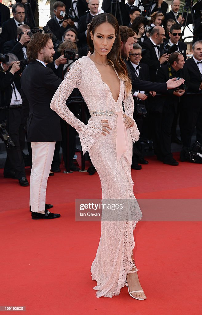 Joan Smalls attends the 'Cleopatra' Premiere during the 66th Annual Cannes Film Festival at Grand Theatre Lumiere on May 21, 2013 in Cannes, France.