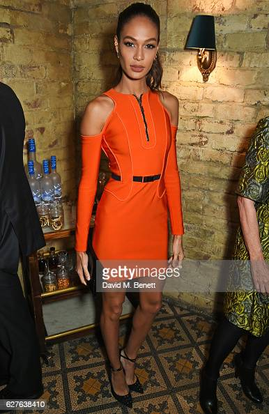 Joan Smalls attends The Fashion Awards in partnership with Swarovski nominees' lunch hosted by the British Fashion Council with Grey Goose at Little...