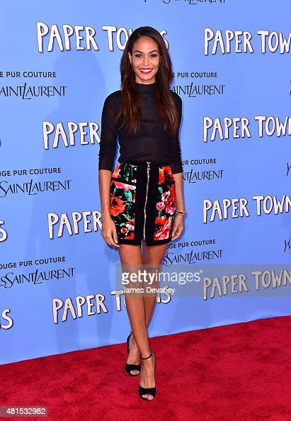 Joan Smalls attends the 'Paper Towns' New York Premiere at AMC Loews Lincoln Square on July 21 2015 in New York City