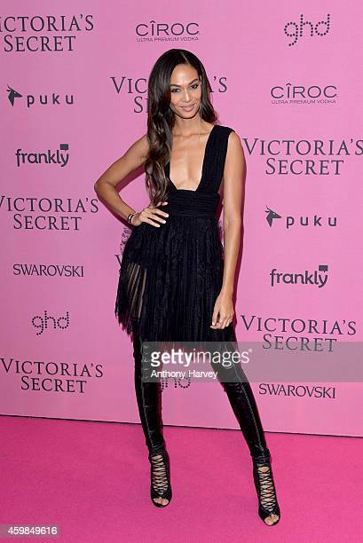 Joan Smalls attends the pink carpet of the 2014 Victoria's Secret Fashion Show on December 2 2014 in London England
