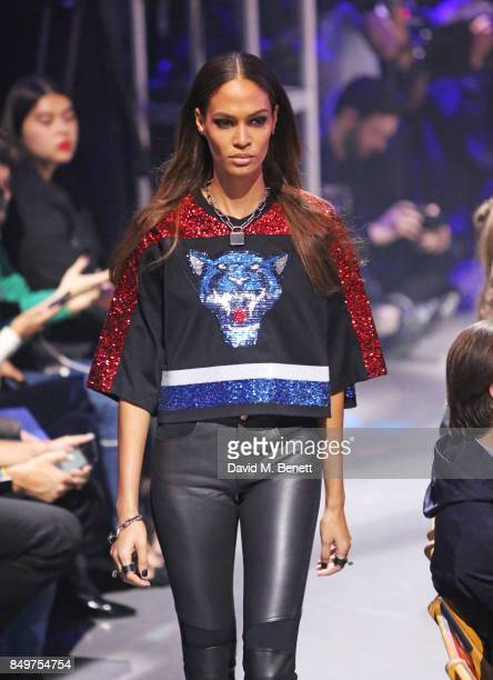 Joan Smalls attends the Tommy Hilfiger TOMMYNOW Fall 2017 Show during London Fashion Week September 2017 at The Roundhouse on September 19 2017 in...