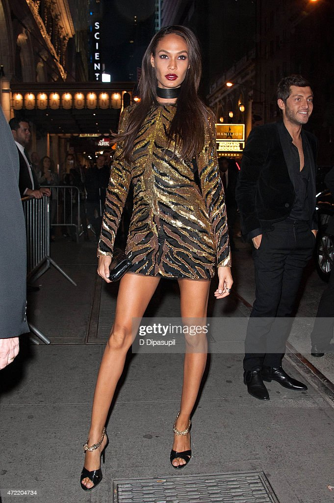 Joan Smalls is seen arriving at the Diamond Horseshoe on May 4 2015 in New York City
