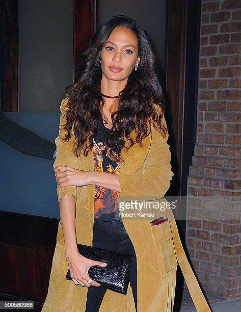Joan Smalls seen at the Greenwich Hotel in Tribeca for the Victoria Secret Fashion Show screening on December 8 2015 in New York City