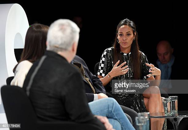 Joan Smalls speaks on stage as The Business of Fashion presents VOICES on December 2 2016 in Oxfordshire England