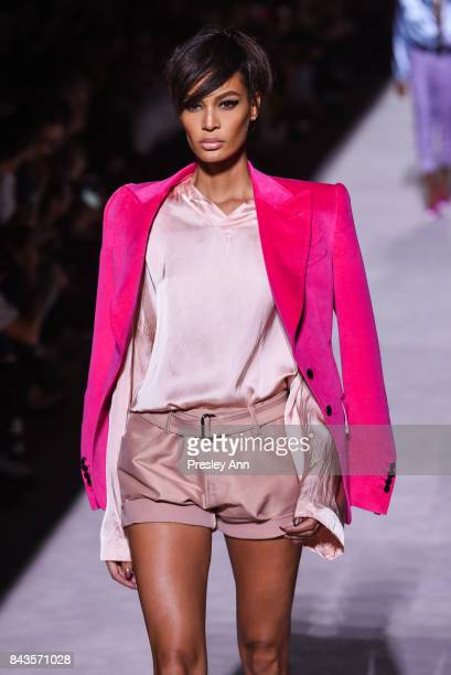Joan Smalls walks the runway at Tom Ford Runway September 2017 New York Fashion Week at 643 Park Avenue on September 6 2017 in New York City