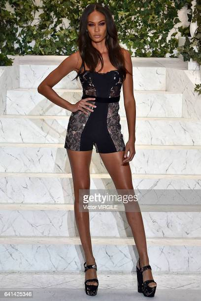 Joan Smalls walks the runway during La Perla fashion show Fall/Winter 20172018 Ready To Wear Show on February 9 2017 in New York City
